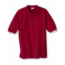 Hanes 054 Polo Shirts - Adult 5.2 oz., 50/50 EcoSmart® Jersey Knit Polo