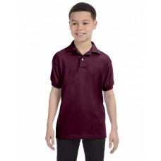 Hanes 054Y Jerseys - Youth 5.2 oz., 50/50 EcoSmart® Jersey Knit Polo