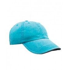 Anvil 166 Caps - Adult Solid Low-Profile Sandwich Trim Twill Cap