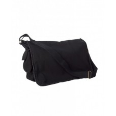 14 oz. Pigment-Dyed Raw-Edge Messenger Bag