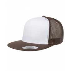 Yupoong 6006W Caps - Adult Classic Trucker with White Front Panel Cap