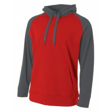 A4 N4234 Fleece Sweatshirts - Men's Color Block Tech Fleece Hoodie