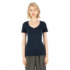 Simplex Apparel Drop Ship SI1020 Tees - Ladies' Combed Ring-Spun Cotton Deep-V T-Shirt