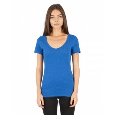 Simplex Apparel Drop Ship SI2020 Tees - Ladies' CVC Deep V-Neck T-Shirt