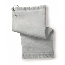 Towels Plus T60GH Towels - Fringed Fingertip Towel with Corner Grommet and Hook